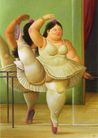 Dancers at the bar - Fernando Botero (2001)
