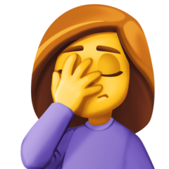 Emoj woman-facepalming