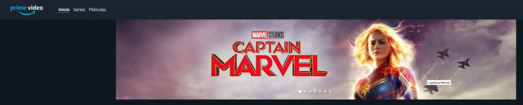 Captain Marvel en Amazon Prime - Captura de pantalla