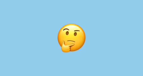 Thinking-face - Emojipedia