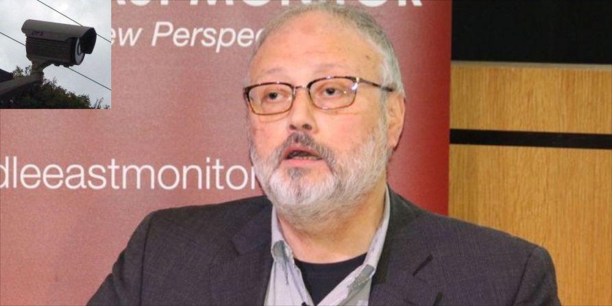Khashoggi y camara de video vigilancia