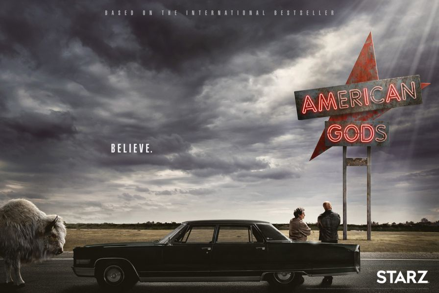Affiche American Gods- Origine Amazon Prime