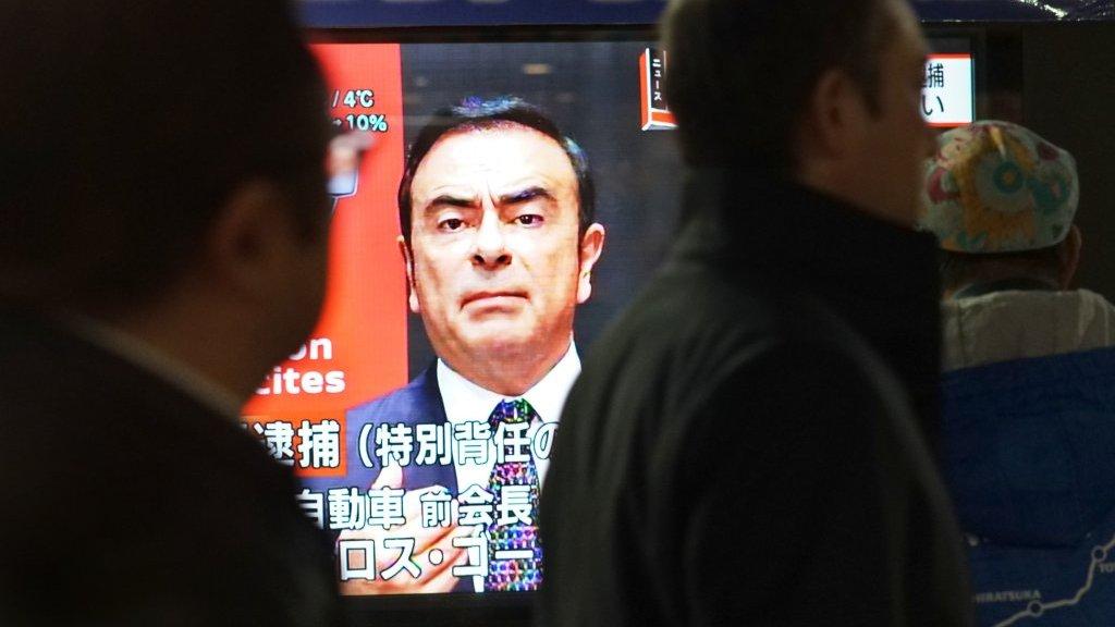 Carlos Ghosn sur un téléviseur japonais