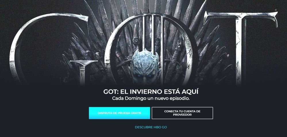 Captura pantalla HBO GO Latino America