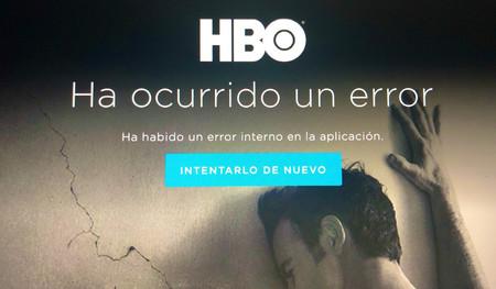 Mensaje de error HBO