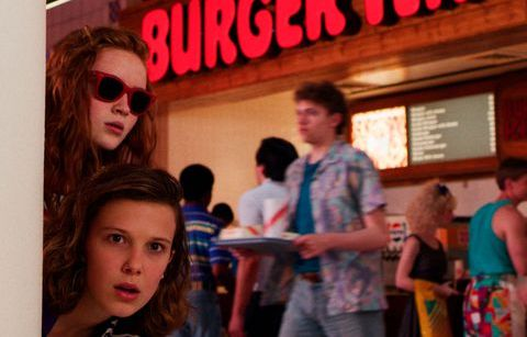 Millie Bobby Brown y Sadie Sink - Stranger Things - Origen Netflix