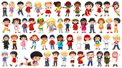 Niños de varias culturas - Origen desconocido
