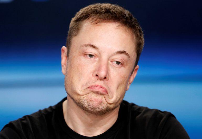 Elon Musk pouting - Origen desconocido