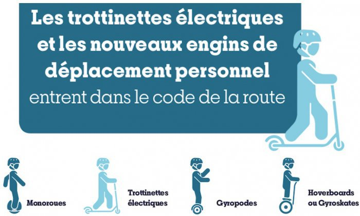 Promoción oficial decreto francés sobre patinetas