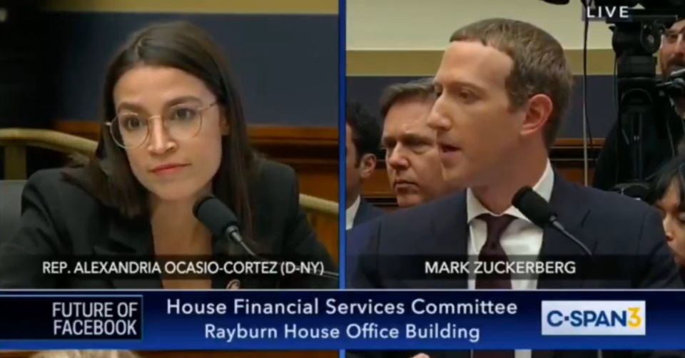 AOC questionning Zuckerberg in Financial Services Commitee - Origen C-SPAN3