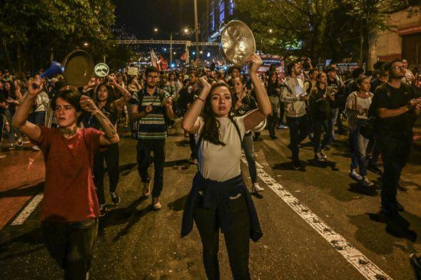 Cacerolazo en Bogotá - Origen AFP