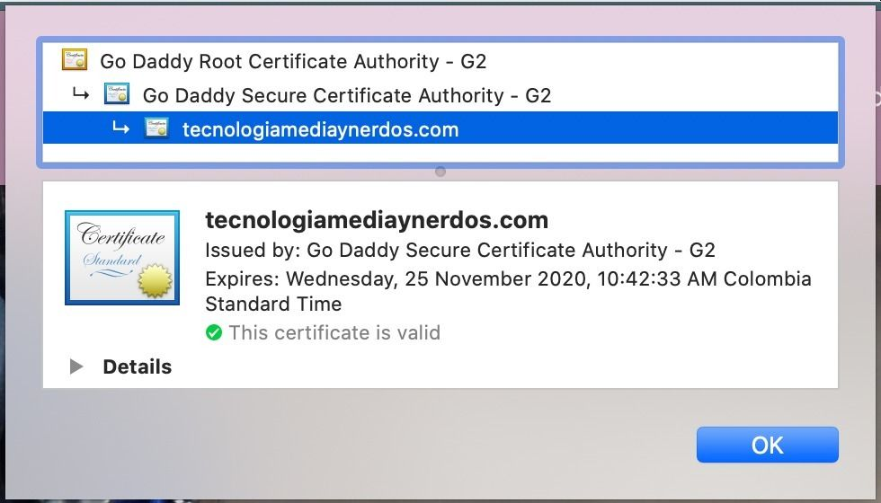 Certificado SSL de TMN
