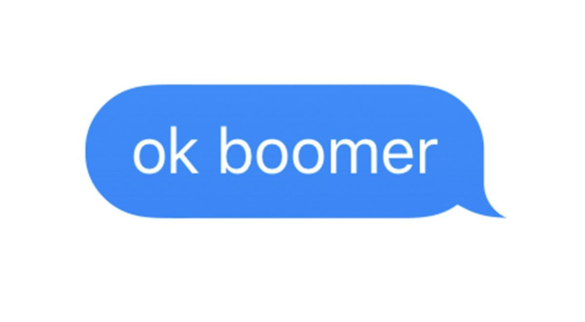 """OK Boomer"" Chat answer"