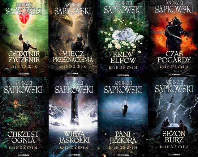 Portadas originales de la Saga de Geralt de Rivia - Origen (polaco) desconocido