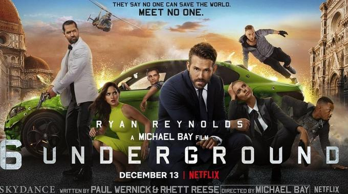 Afiche de 6 Uundergound - Origen Netflix