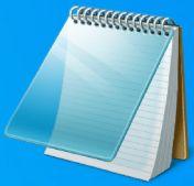 Icono Notepad de Microsoft Windows - Origen Microsoft