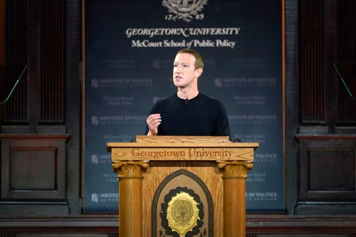 Mark Zuckerberg at Georgetown University - Origen Riccardo Savi - Getty Image 50