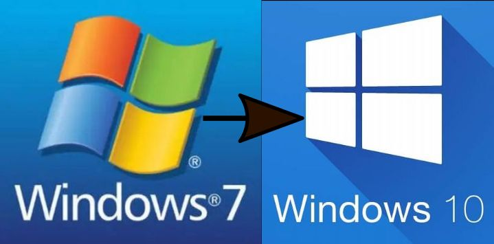 Upgrade de Windows 7 a Windows 10 - Logos Microsoft