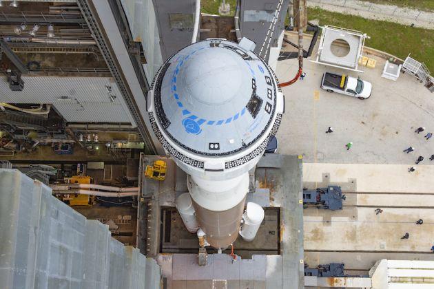 Vista de la capsula Starliner antes de su lanzamiento - Origen NASA