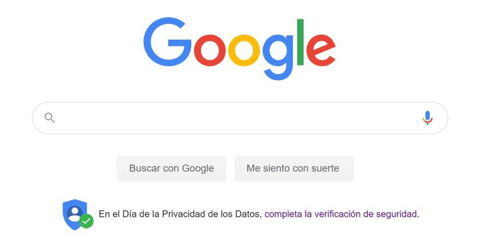 Captura de pantalla página Google