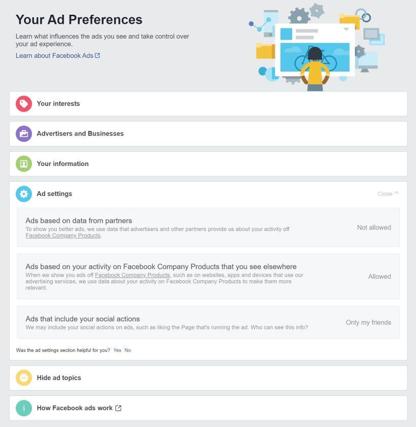 Configuración Facebook Ads - Captura de pantalla