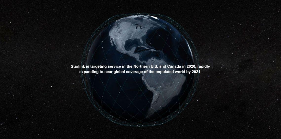 Mensaje de Starlink - captura de pantalla sitio web de Starlink