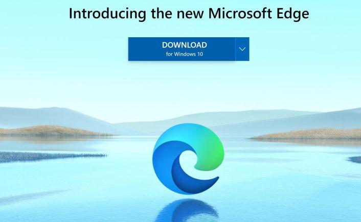 Pagina de descarga de Microsoft - Captura de pantalla