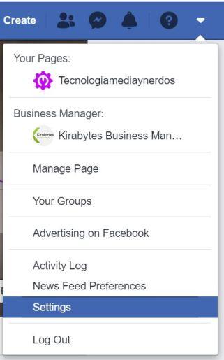 acceso a personalización en Facebook - Captura de pantalla