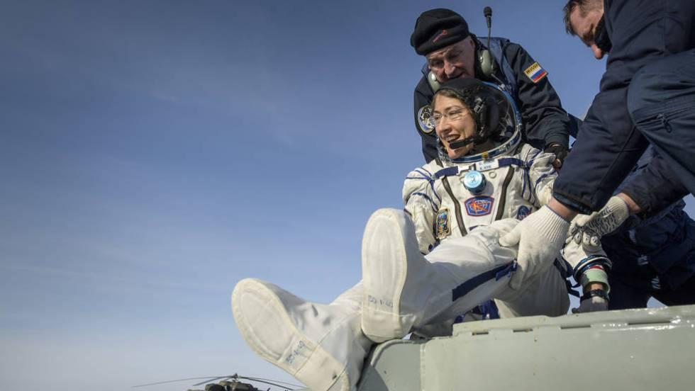 Christina Koch el 6 de febrero de 2020 - Origen NASA/ROSCOSMOS