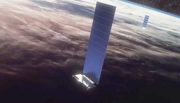 Satelites de la constelación Starlink - Origen SpaceX
