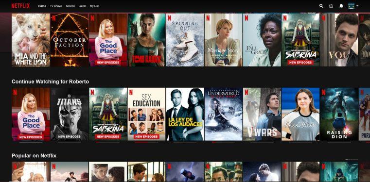 Pantalla Netflix - Captura de pantalla