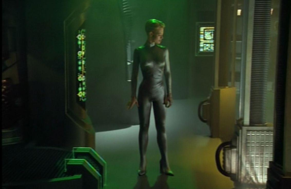 Seven demasiado sexy - Captura de pantalla en Star Trek Voyager