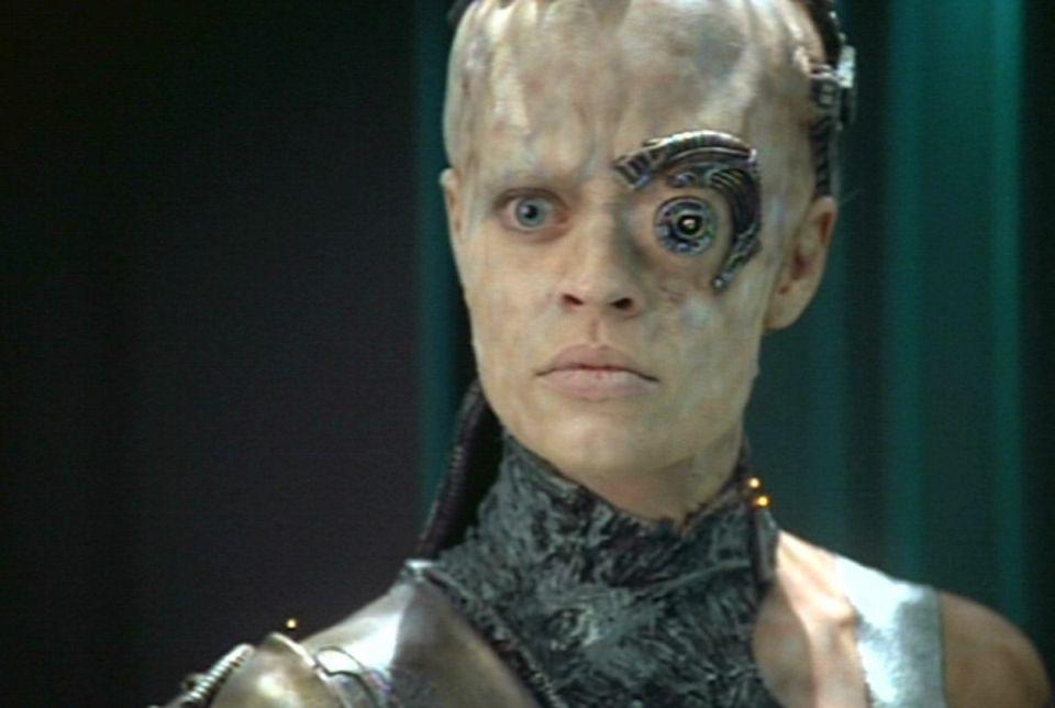 Seven of Nine en S04E01 de Star Trek Voyager - Origen Paramount
