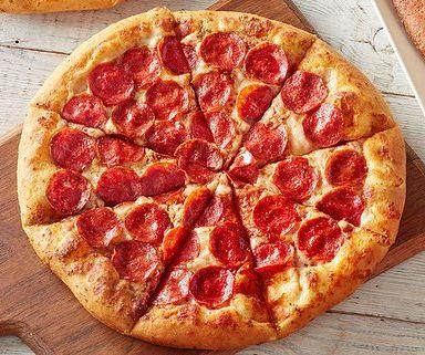 Una pizza con pepperoni - Origen desconocido