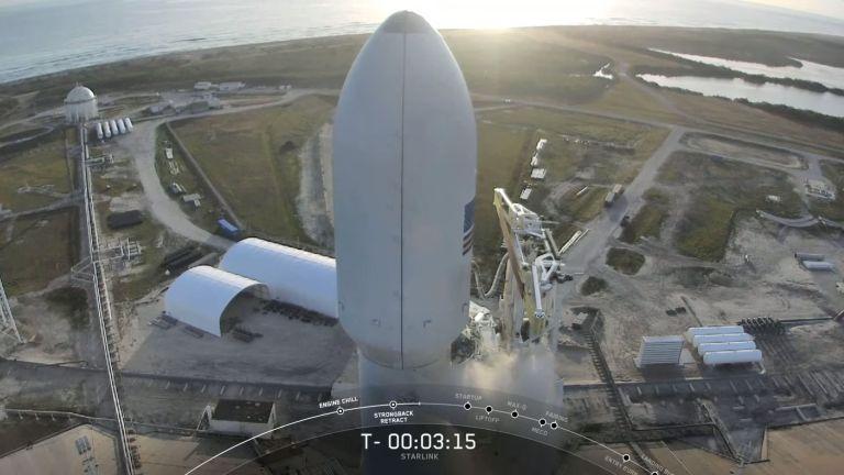 Carga útil de la misión Starlink 5 - 18 de marzo de 2020 - Origen video oficial SpaceX