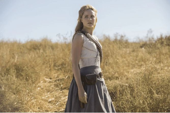 Evan Rachel Wood as Dolores in Westworld - Origen HBO