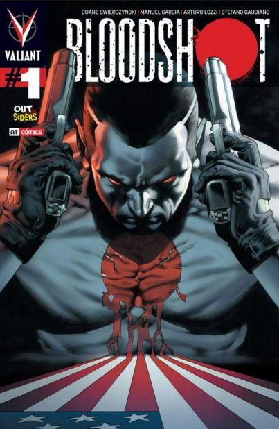 Portada del Comic Bloodshot - Origen Valiant Comics