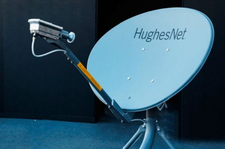 Antena parabólica satelital - Origen Hughesnet