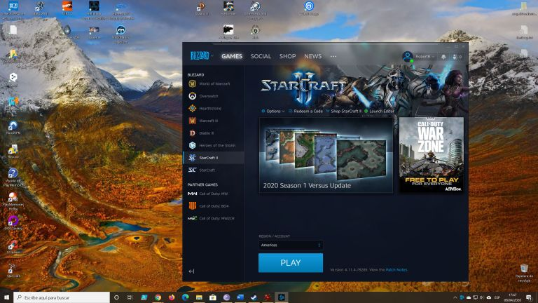Videojuegos - Captura de pantalla de la página Starcraft II en BattleNet