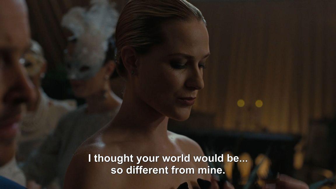 Dolores en la fiesta del episodio 4 - Origen HBO