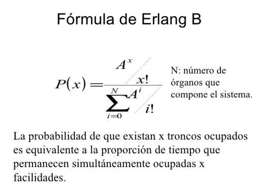 Fórmula de Erlang B - Origen desconocido