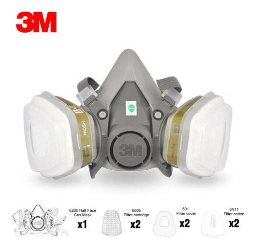 Respirador de mascara de-gas 3M 6200 - Origen 3M