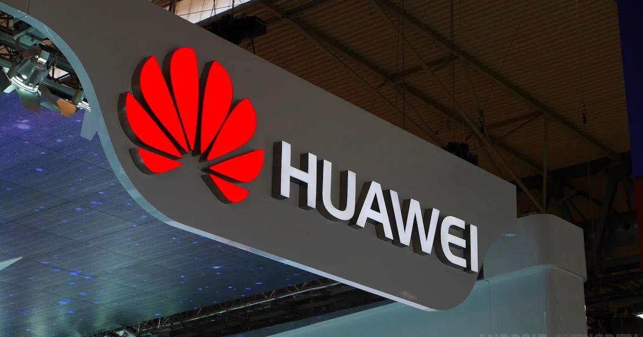 Aviso con logo de Huawei - Origen desconocido