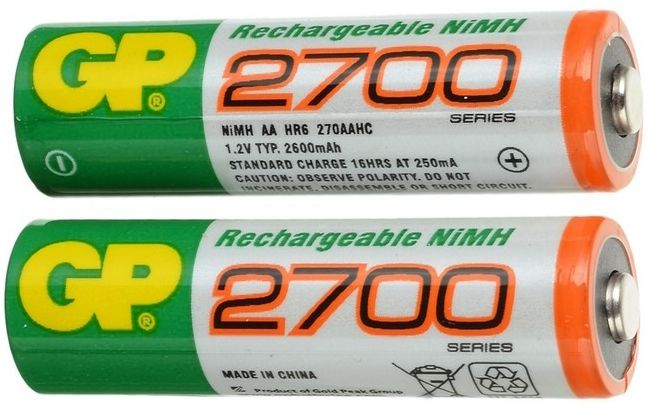 Almacenamiento de electricidad - Baterias AA - Origen GP
