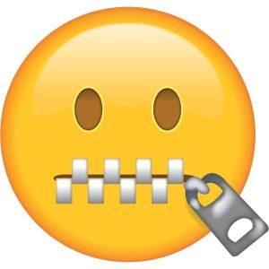Emoji boca cerrada - origen Emojiisland