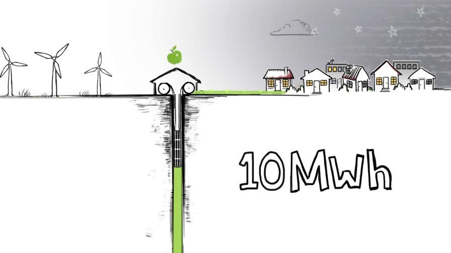 Almacenamientos mecánicos locales de energía - Ilustración original Gravitricity