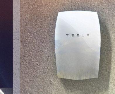 Tesla Powerwall montado en pared - Origen Tesla