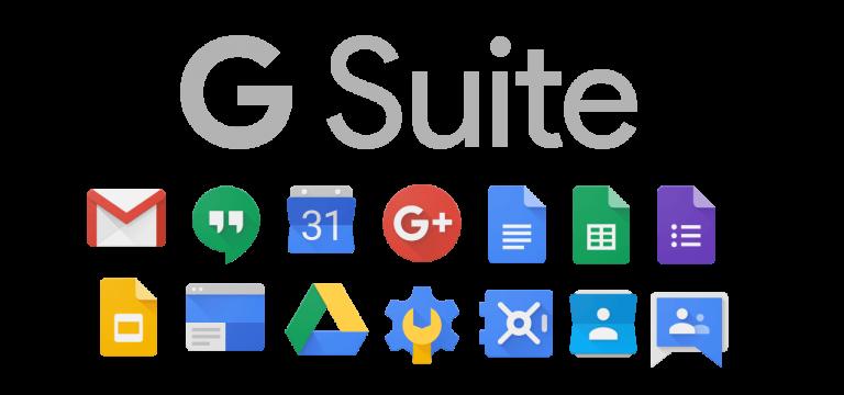 Logo promocional de G Suite - Origen Google