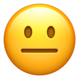 Emoj Neutral Face - Emoticón Facebook