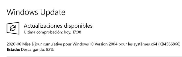 Actualización de windows - Captura de pantalla en Windows